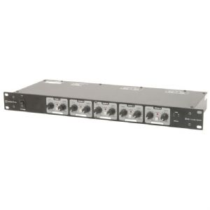 "Adastra Z5M Zoning PA Mixer Serving 5 Zones Areas with 2 Inputs 19"" 1U Rackmount"